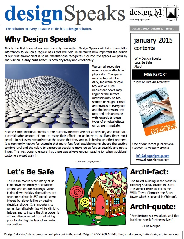 Design Speaks January
