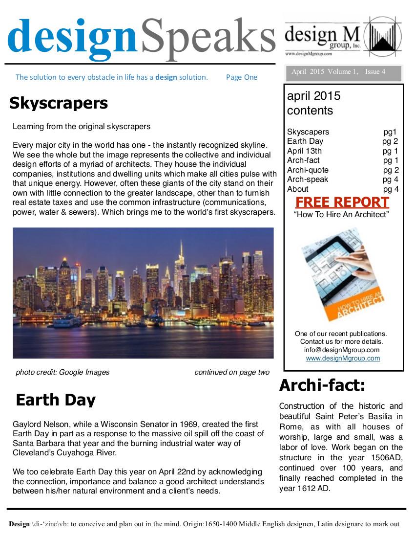 Design Speaks April